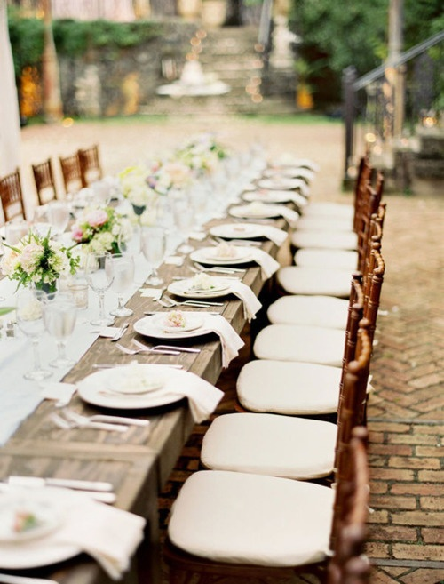 Wedding Reception, Table Settings: Outdoor Wedding, Idea, Wood Tables, Dinners Parties, Head Tables, Long Tables, Farms Tables, Thanksgiving Tables Sets, Maui Wedding