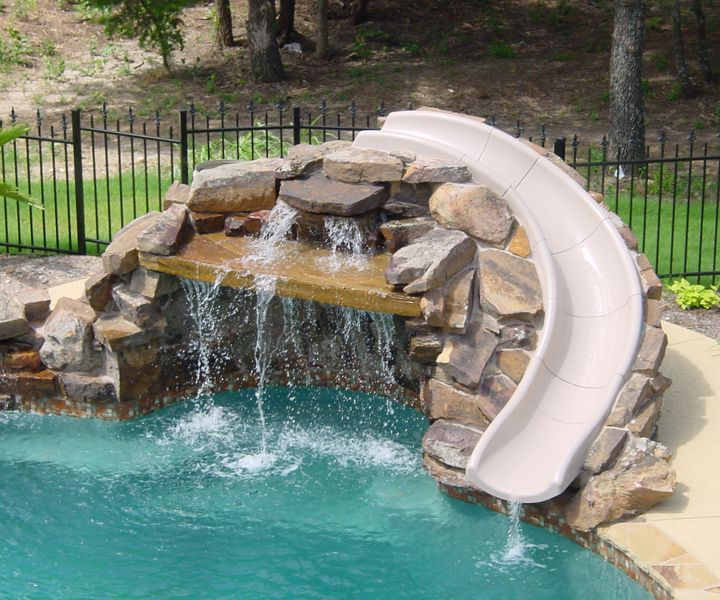 Best 25 swimming pool slides ideas on pinterest for How to build an indoor pool
