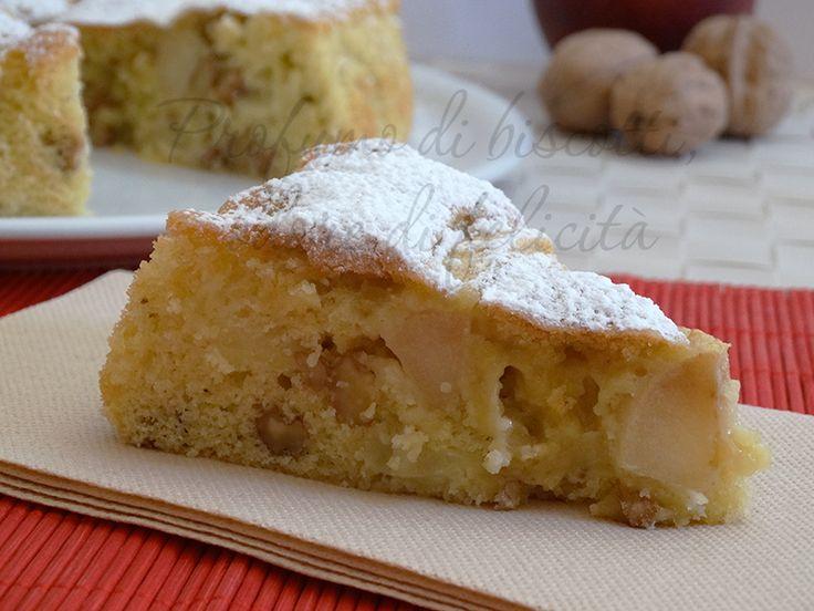 La torta di mele e noci è un dolce molto diffuso e sempre buonissimo, qui in versione senza burro e latticini!
