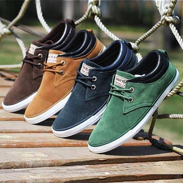 Hot Sale Men Shoes Lace Up - Canvas Shoes - 2017 Casual Shoes For Men Trainers
