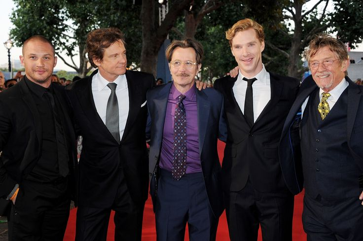 (L to R) Tom Hardy, Colin Firth, Gary Oldman, Benedict Cumberbatch and John Hurt arrive at the UK Premiere of 'Tinker, Tailor, Soldier, Spy' at BFI Southbank on September 13, 2011 in London, England. (Photo by Dave M. Benett/Getty Images)