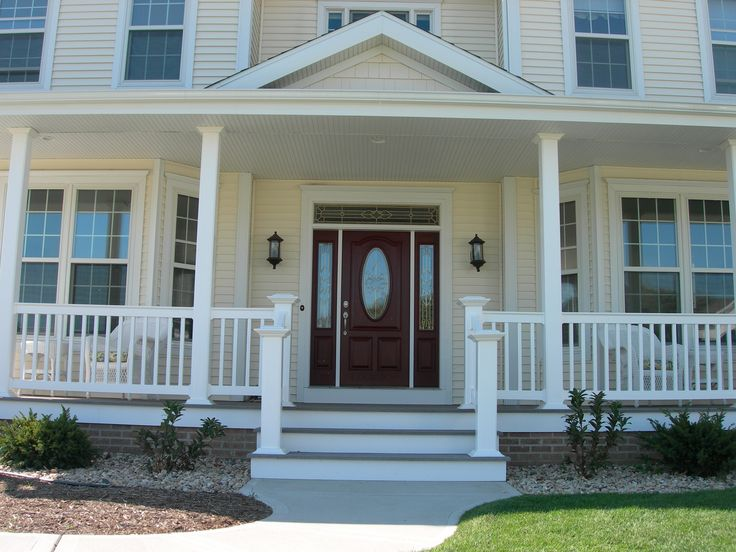 Home sweet home. Create a welcoming look with our lasting vinyl railing. Durable, secure, and beautiful our vinyl railing is a timeless addition to any home.