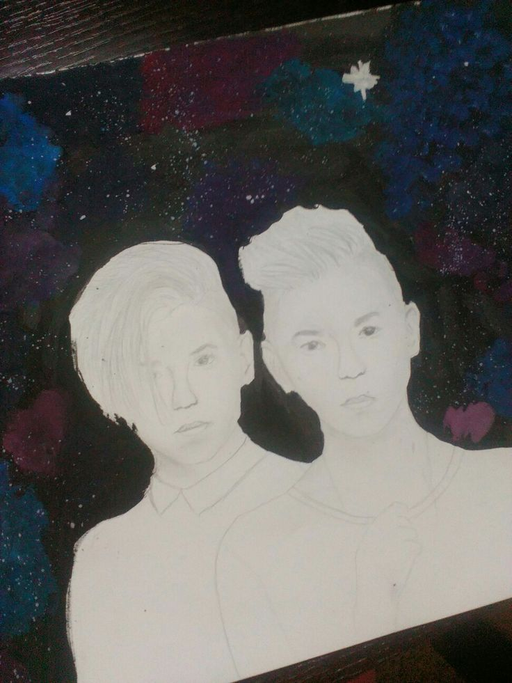 My finished drawing of Marcus and Martinus  Happy birthday boys