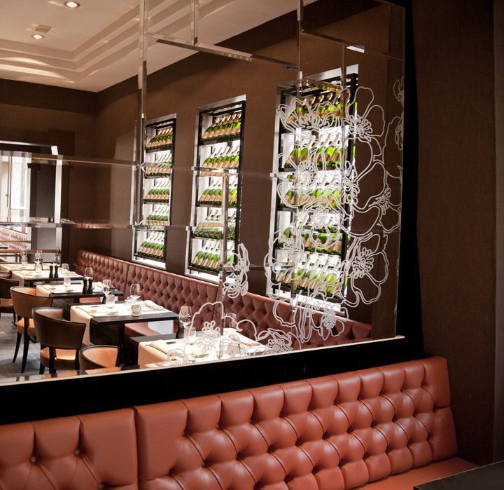 art kwizien luxury brasserie design and identity by mojo dendermonde hotels and restaurants branding - Beaded Inset Restaurant Interior