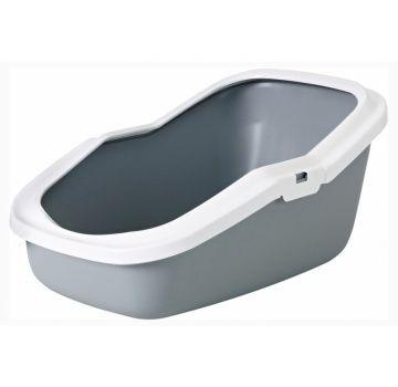 Туалет для кошек Savic Aseo с высокими бортами, серый