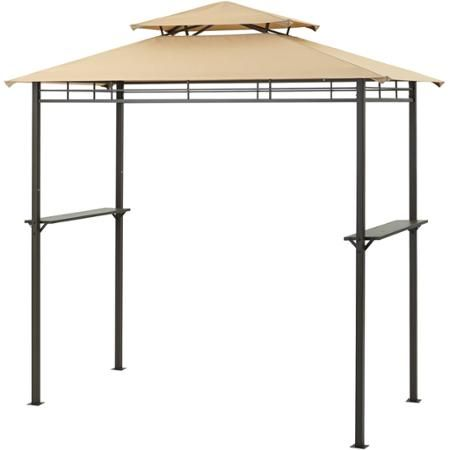 Spread the love            Stay protected from the elements while cooking outdoors with this Mainstays Grill Gazebo. It features a lightweight design that is quick and easy to install. The grill gazebo with canopy has a heavy-duty scratch- and rust-resistant steel frame. It includes a two-piece side bar to provide extra work space beside the cooker for holding and storing items. The outdoor grill gazebo has a fire-proof canopy cover to provide an extra level of safety and a two-level air…