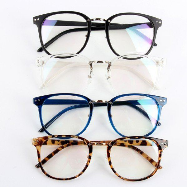 Fashion Unisex Tide Optical Glasses Round Frame Eyeglasses Metal Arrow UV400 Lens Eyewear