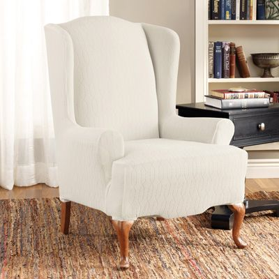 Sure Fit Cotton Duck Wing Chair Slipcover - Walmart.com & Best 25+ Recliner chair covers ideas on Pinterest | Recliner cover ... islam-shia.org