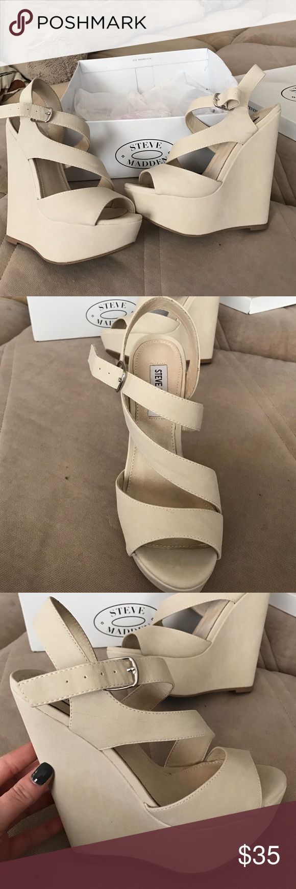 Steve Madden xaria size 7 Cream Steve maddens, I bought off of here and they are very nice however they aren't exactly what I'm looking for :) Steve Madden Shoes Platforms