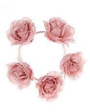 Shell Pink (Pink) Pink Rose Garland Bun Hairband | 306384972 | New Look