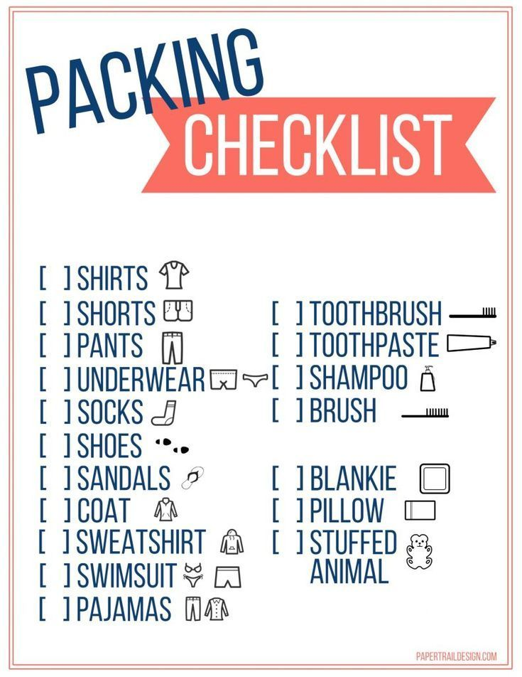free printable vacation packing list template for kids kids travel packing checklist with pictures to help them pack for a trip