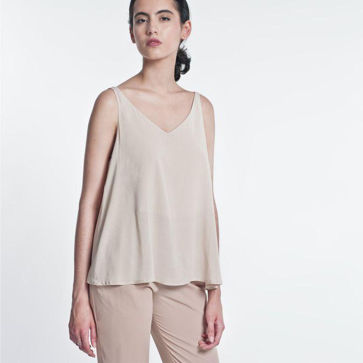 Summer Top Beige Elementy  #top # summer #beige #elementy #minimal #classic #polishfashion