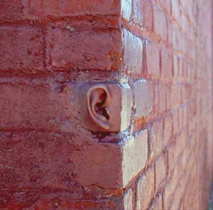 Les murs ont des oreilles... / Walls have ears...