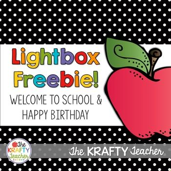 Lightbox, Back to School, Happy Birthday Freebie for your