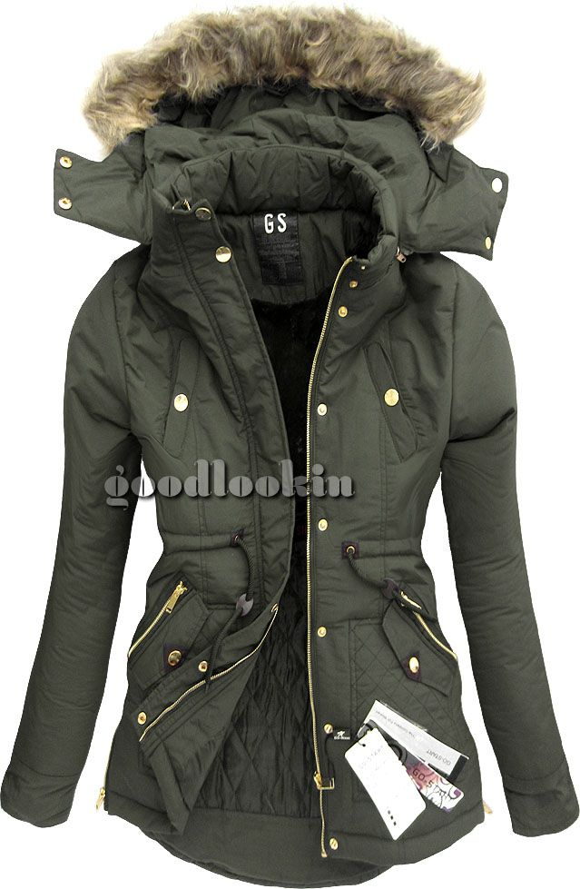 Khaki Kurtka Zimowa Go Start Ah Cx570w Boho Style Inspiration Boho Fashion Fashion