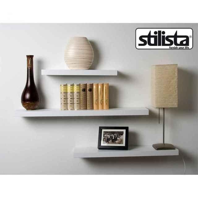 Maxstore GmbH: STILISTA® Wandregal, Wandboard für Bücher weiss