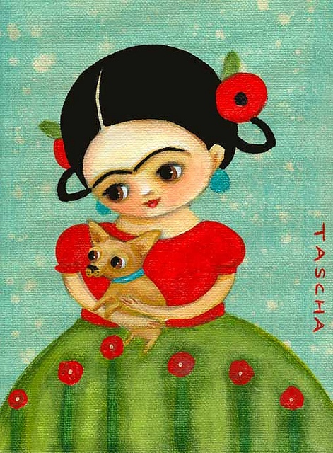 Frida and doggie