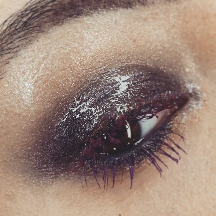 Wet look eyes makeup Glossy eye #maccosmetics #wetlook #glossy