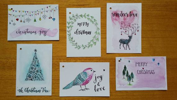 Brand new item in my Etsy shop today 😊 https://www.etsy.com/au/listing/481285430/pack-of-6-christmas-gift-tags-by