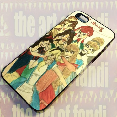 Disney Princess Funny Faces Pain For iPhone 4 or 4s Black Rubber Case