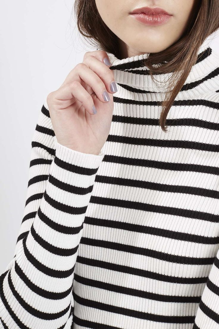Photo 5 of Liquorice Stripe Roll Neck Jumper