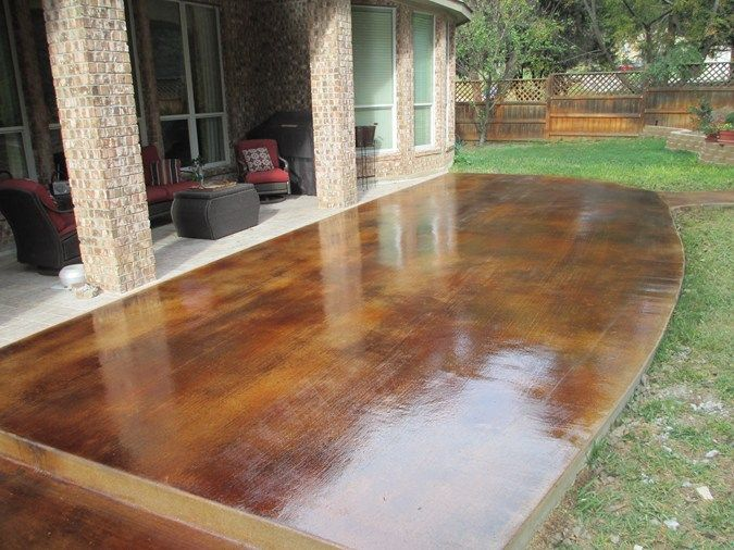Custom Stained Concrete Floors : Stained wood grain concrete patios custom