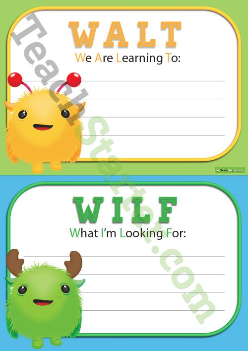 WALT, WILF and TIB Posters | Teaching Resources - Teach Starter