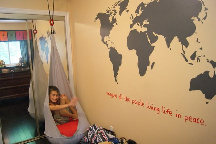Black World Map With A Quote Underneath Wallpaper Design Kids