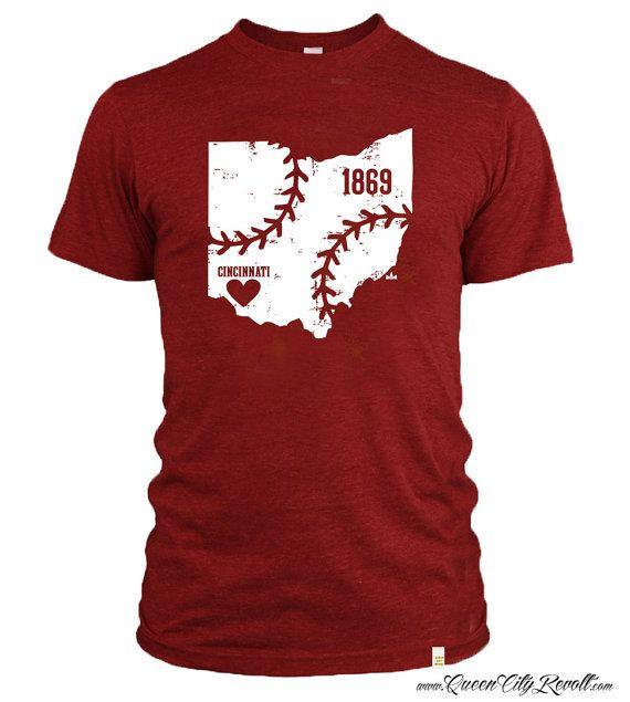 Love for my Cincinnati Reds Tshirt by QueenCityRevolt on Etsy