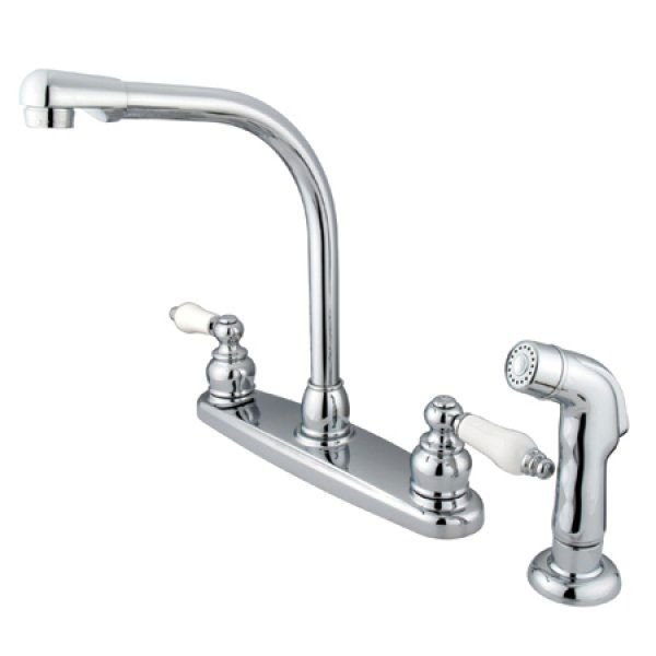 Kingston Brass Victorian Chrome Kitchen Faucet (Kitchen / Chrome), Silver