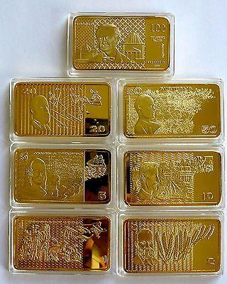 AUSTRALIAN-PAPER-BANKNOTE-1-OZ-BAR-SET-100MILLS-24K-999-GOLD-CLAD-BULLION-OLD