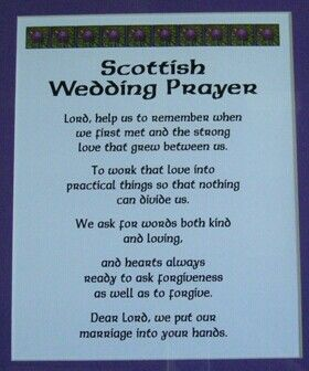 Scottish Wedding Prayer