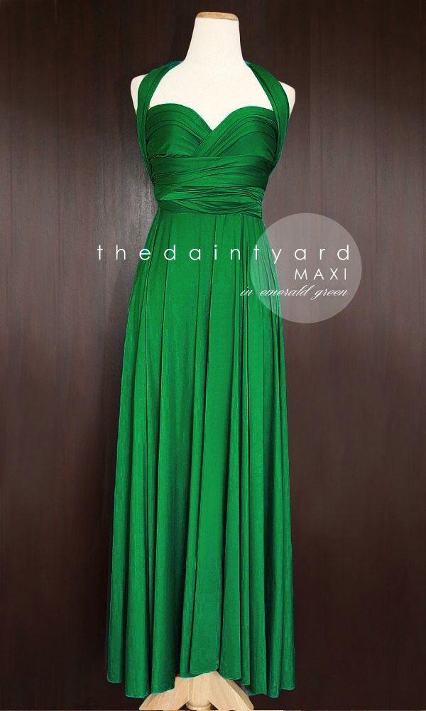 MAXI de demoiselle d'honneur vert émeraude Convertible Infinity Multiway Wrap Dress mariage vert Prom robe Pastel longtemps pleine longueur par thedaintyard sur Etsy https://www.etsy.com/fr/listing/189561881/maxi-de-demoiselle-dhonneur-vert