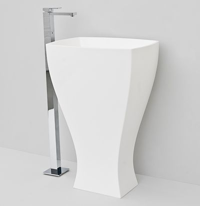 Jazz, design Meneghello #bagno #bathroom #design #decor #white #Artceram freestanding washbasin