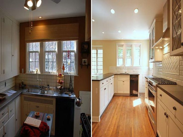 25 best images about kitchens before and after on for Small kitchen remodels on a budget