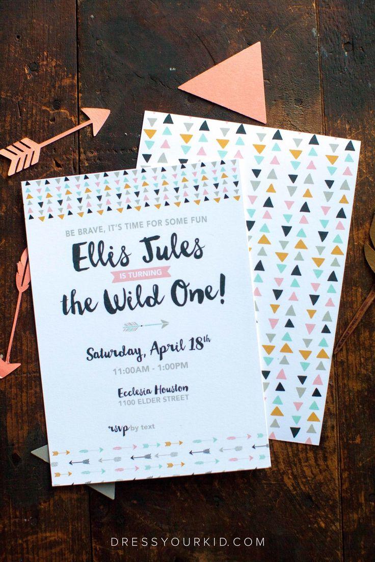 invitation words forst birthday party%0A Ellis is a Wild ONE  Wild One Birthday PartyFirst