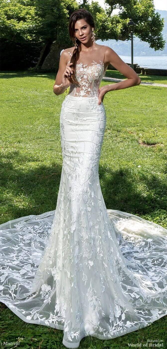 Mistrelli 2018 Wedding Dresses World Of Bridal Wedding Dresses Short Wedding Gowns Stunning Wedding Dresses [ 1400 x 670 Pixel ]