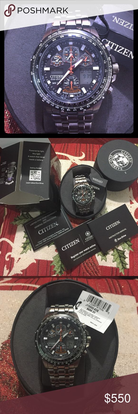 ‼️🎉 SALE 🎉‼️ Citizen Eco-Drive Skyhawk AT watch Mens Citizen Eco-Drive Skyhawk AT Atomic Perpetual Watch JY0000-53E  Radio Controlled (Atomic Timekeeping)  Digital Display of 43 World Cities Perpetual Calendar Multi-Function Chronograph 2 Alarms  Non-Reflective Mineral Glass Crystal Rotating Slide Rule Bezel Stainless Steel Band Push Button Fold Over Clasp  Eco-Drive Technology,Never Need to Change the Battery Charges in Sunlight or Indoors 180-Day Power Reserve Power Reserve Indicator…