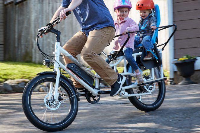 Radwagon 4 Electric Cargo Bike Gets Big Updates New Motor New Frame In 2020 Electric Cargo Bike Cargo Bike Power Bike