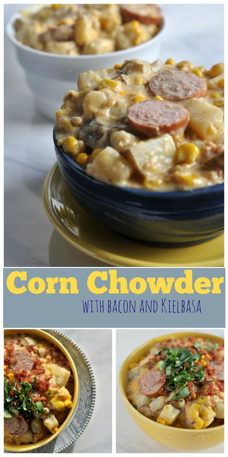 Corn Chowder with Bacon and Kielbasa