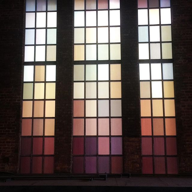 Transparent windows are overrated #gradient #color #window #newyork #nyc #chelsea #highline