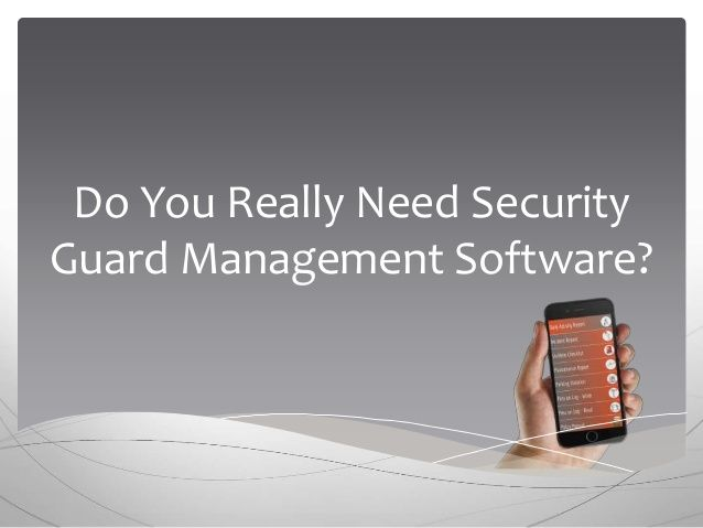 What are you doing to make your customer's job easier? Because, your customers are looking for you to introduce them to innovations that make their jobs easier and their properties more secure. So why is security guard software such a game changer?  •	It Makes Your Officers Accountable •	It Improves Your Operational Efficiency •	Allows For Better Decision Making Despite overwhelming evidence regarding the need for security guard software, many security guard companies need it.