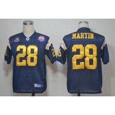Jets #28 Curtis Martin Dark Blue Hall of Fame 2012 Stitched NFL Jersey