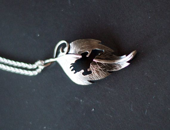 Just a leaf with a spaceship is all. by MirielDesign on Etsy