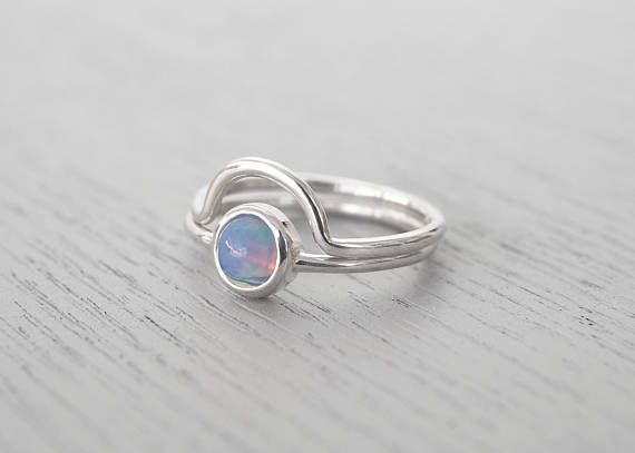Opal ring Opal ring set Opal jewelry Stackable ring Minimalist