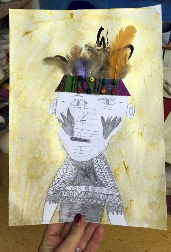 Indiani Kresba Tuzkou Cestujeme A Tvorime S Detmi Pinterest