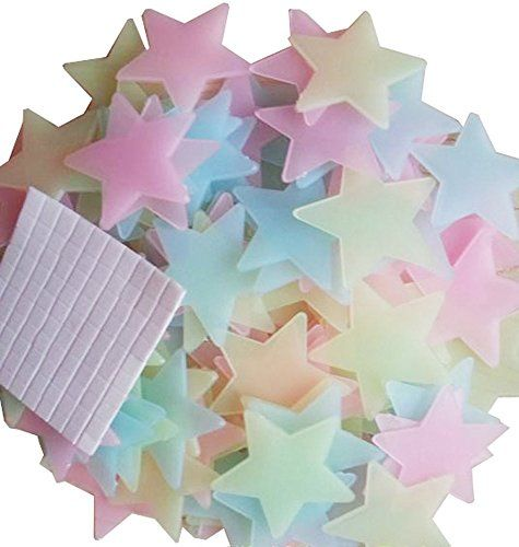 Best price on Pack of 100 Luminous Stars Glow in the Dark Fluorescent Noctilucent Plastic Wall Stickers Decals for Home Ceiling Wall Decorate Baby Kids Gift Nursery Room by Blovess (3.8cm)  See details here: http://babiesluxurystore.com/product/pack-of-100-luminous-stars-glow-in-the-dark-fluorescent-noctilucent-plastic-wall-stickers-decals-for-home-ceiling-wall-decorate-baby-kids-gift-nursery-room-by-blovess-3-8cm/    Truly a bargain for the reasonably priced Pack of 100 Luminous Stars Glow…