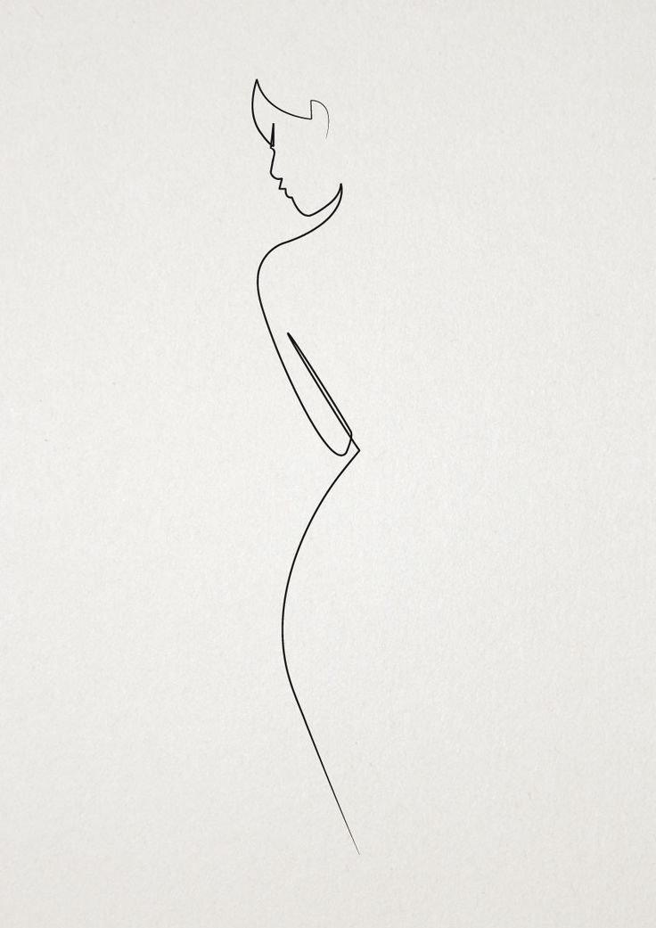The female line, black line sketches for living room