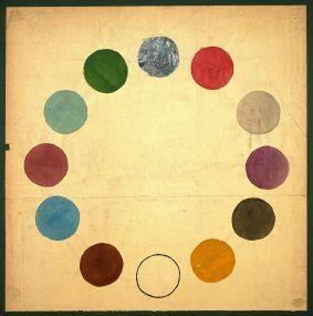 Alfred Arndt, Farbkreis aus dem Unterricht von Gertrud Grunow, um 1921 Bauhaus-Archiv / Museum für Gestaltung, Berlin