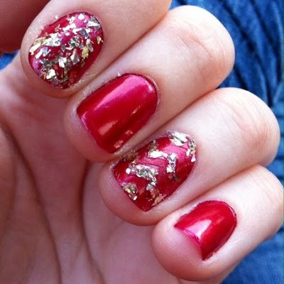 Gold Glitter Chevrons | Nail Art Details | Lipstick, Lashes & Liner